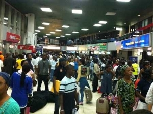 Horror! Air Force Personnel Angrily Stabs NDLEA Official at Lagos Airport...Shocking Details